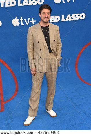 LOS ANGELES - JUL 15: Marcus Mumford arrives for the Ted Lasso Season 2 Premiere on July 15, 2021 in West Hollywood, CA