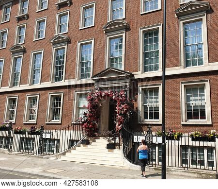 LONDON, UK - 22ND JULY 2021: Gordon Ramseys, Lucky cat restaurant  in Mayfair,  London.