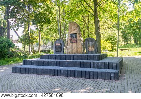 Bogatynia, Poland - June 2, 2021: Plaques Commemorating Those Who Fought For Freedom Poland, Soldier