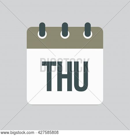 Template Icon Page Calendar, Day Of Week Thursday
