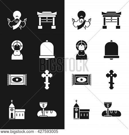 Set Church Bell, Jesus Christ, Japan Gate, Traditional Carpet, Christian Cross, First Communion Symb