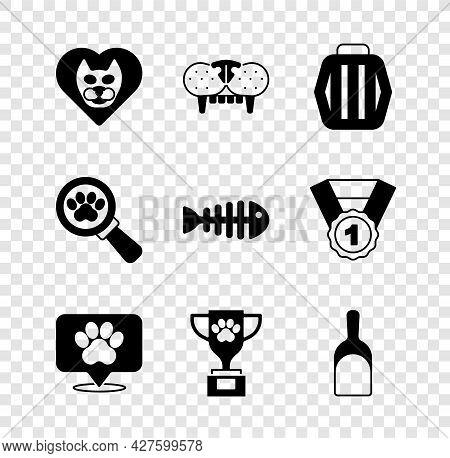 Set Heart With Cat, Cat Tooth, Pet Carry Case, Location Veterinary Hospital, Award, Dustpan, Veterin