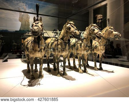 Bangkok, Thailand - Oct 31,2019 : Terracotta Soldier And Warrior Figures From Qin Shi Huang Tomb Mau