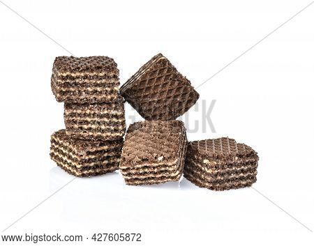A Chocolate Wafers Isolated On White Background