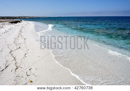 View Of Mari Ermi Beach, Sardinia, Italy