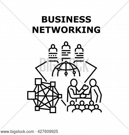 Business Networking Outsource Vector Icon Concept. Business Networking Outsource, Colleagues Working