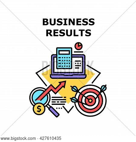 Business Results Vector Icon Concept. Business Results And Successful Achievement, Analyzing And Res