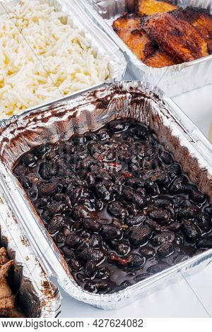 Caraotas Negras, Is The Name Given In Venezuela To Black Beans, Used To Fill Arepas And For Typical