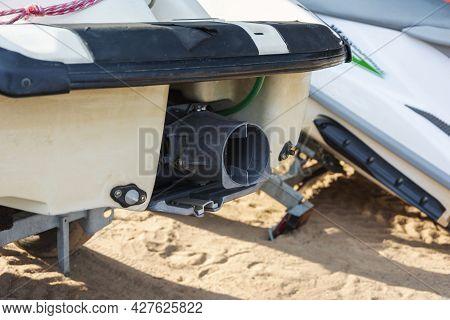 Water Jet Installation Of A Jet Ski, Jet Ski Propulsion, Water Jet, Device And Parts Of A Jet Ski.