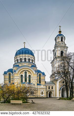 Assumption Cathedral And The Bell Tower In Tikhonov Assumption Monastery, Russia