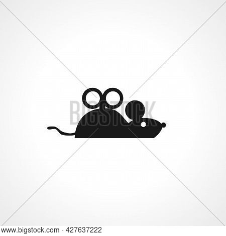 Toy Mouse Icon. Toy Mouse Simple Vector Icon. Toy Mouse Isolated Icon.