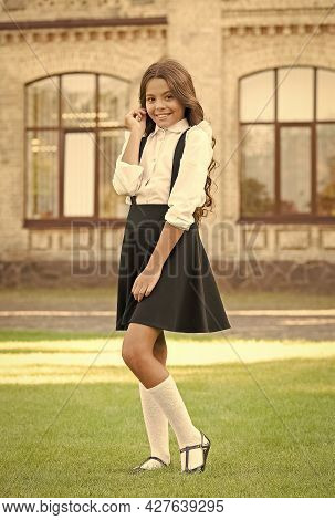 The Perfect Outfit. Back To School. Happy Beauty Outdoor. Kid Fashion And Shopping. Happy Childrens