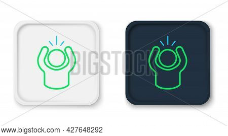 Line Anger Icon Isolated On White Background. Anger, Rage, Screaming Concept. Colorful Outline Conce