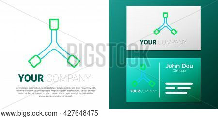 Line Skateboard Y-tool Icon Isolated On White Background. Colorful Outline Concept. Vector
