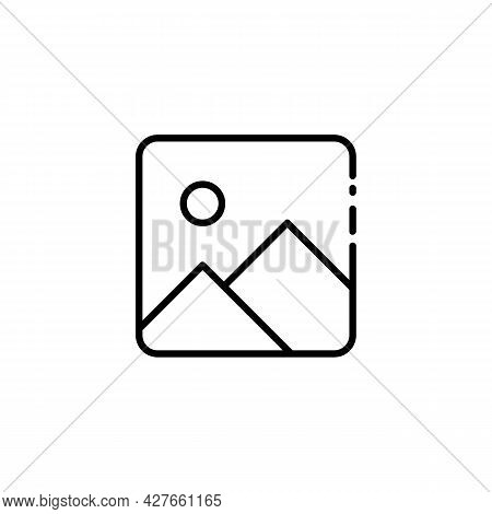 Simple Galery Thin Line Icon In Black On White. Trendy Flat Isolated Symbol Sign Can Be Used For: Il