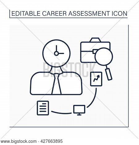 Fast-paced Line Icon.quickly And Continuously Moving From One Task To Another. Multitasking. Career