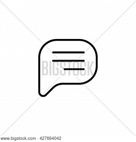 Simple Speech Bubble Chat Or Bubble Talk Black Icon. Trendy Flat Isolated Symbol, Sign Used For: Ill