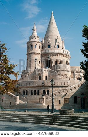 Fisherman's Bastion Or Halászbástya, A Neo-romanesque Monument In The Buda Castle District Of Budape