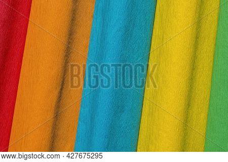 Assorted Coloured Crepe Paper Full Frame Background