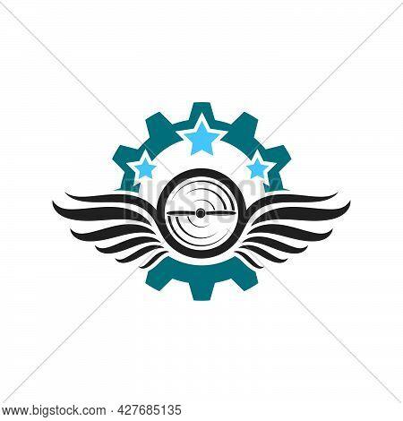 Aviation Logo  Vector Illustration Design
