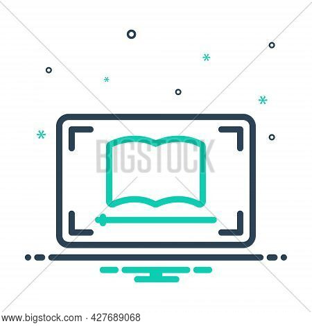 Mix Icon For Video-lesson Video Lesson Ebook Education Guidance Teaching Webinar Network Online
