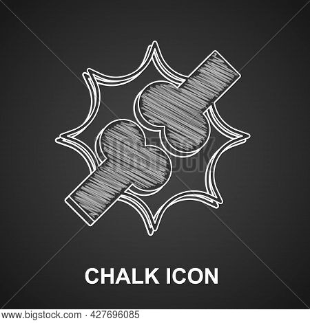 Chalk Joint Pain, Knee Pain Icon Isolated On Black Background. Orthopedic Medical. Disease Of The Jo