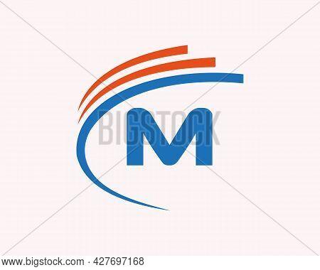 Modern M Logo Design. M Letter Logo Design For Business, Construction, Technology And Real Estate Co