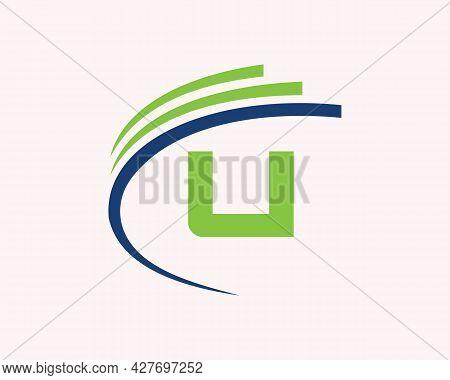 U Logo Design. U Letter Logo Design For Business, Construction And Real Estate Concept