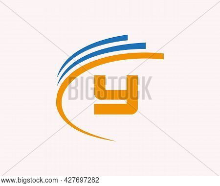 Initial Y Logo Design. Y Letter Logo Design For Business, Construction, Technology And Real Estate C
