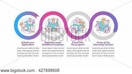Internship Abroad Vector Infographic Template. Submit Application Presentation Outline Design Elemen
