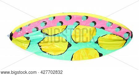 Deflated Beach Ball With Pattern Isolated On White
