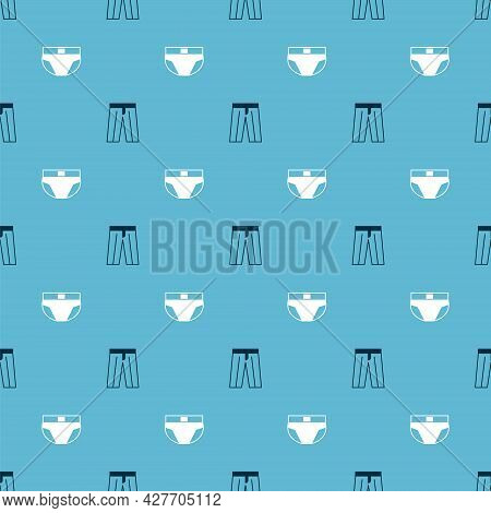 Set Pants And Men Underpants On Seamless Pattern. Vector