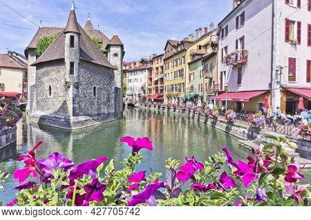 Annecy In Alps, Old City Canal View, France