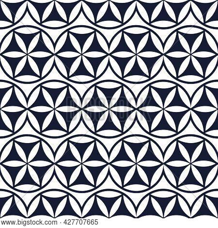 Flower Of Life Seamless Pattern, Vector Illustration. Sacred Geometry In Flower Pattern Shape.