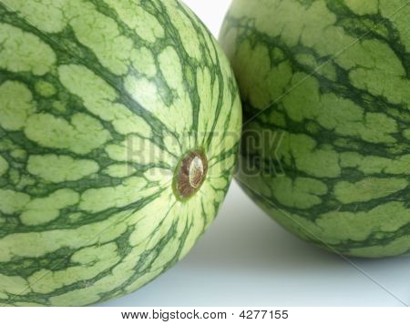 Two Melons In Close Up
