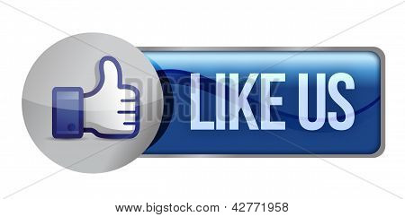 Illustration Icon Social Networks, Like Us
