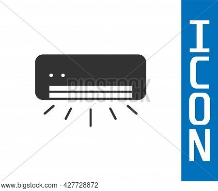 Grey Air Conditioner Icon Isolated On White Background. Split System Air Conditioning. Cool And Cold