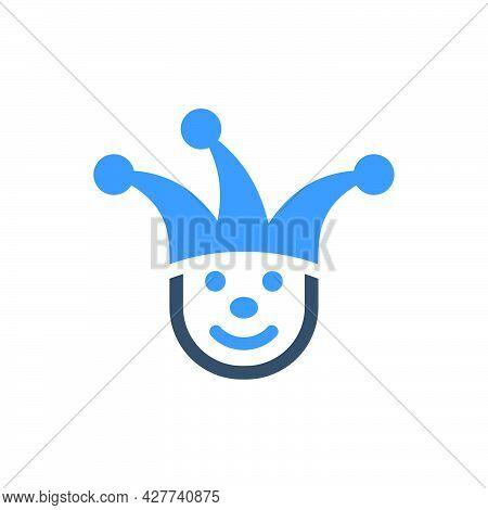 Carnival Joker Icon. Meticulously Designed Vector Eps File.