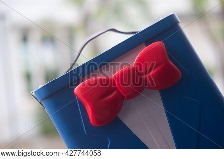 Samut Prakan, Thailand - July 24, 2021: Box Of Popcorn Buckets From The Movie Of Detective Conan - T