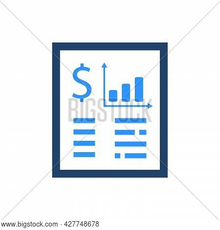 Financial Statement Icon. Meticulously Designed Vector Eps File.