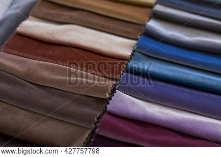 Backgrounds Made Of Natural And Artificial Fabrics For The Design Of Textiles, Furniture And Clothin