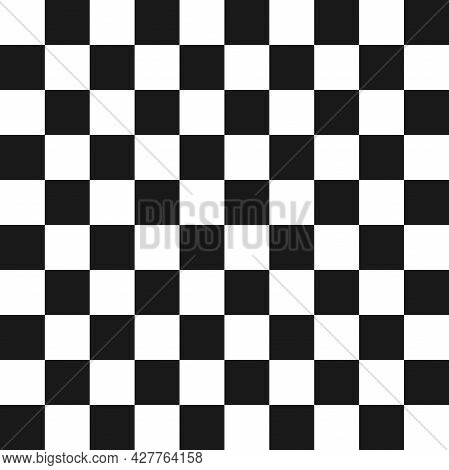 Classic Chess Board. Seamless Chequered Background. Squares Pattern. Geometric Seamless Texture. Mos
