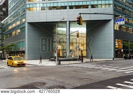 New York, Usa - July 16, 2021: Unidentified People On The Street Of New York At July 16, 2021. At 20