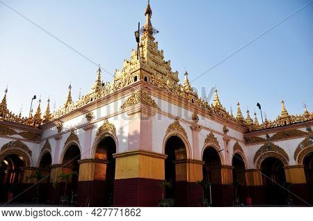 Ancient Building Of Mahamuni Paya Pagoda Temple And Pilgrimage Site For Burmese People Foreign Trave