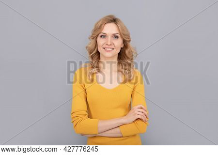 Confidence. Confident Lady With Curly Hair. Beauty And Fashion. Female Fashion Model.