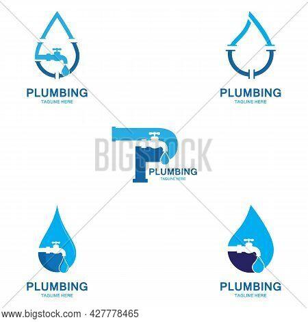 Plumbing Logo Vector Icon Illustration