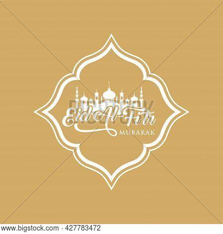 Eid-al-fitr Mubarak Greeting Card Vector Illustration. Welcoming Ramadan.
