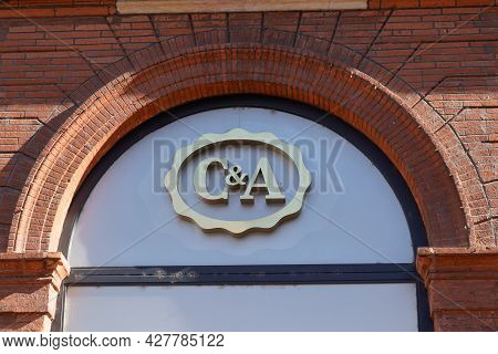 Toulouse , Occitanie France  - 06 25 2021 : C&a Logo Text Sign Shop Brand Chain Of Clothing Store Fa