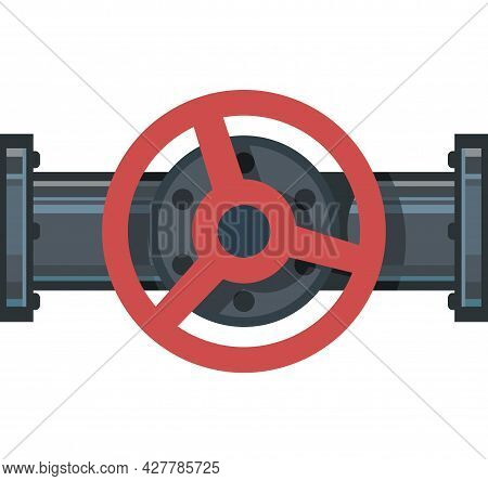 Pipeline Tap. Water Fittings. Pipeline For Various Purposes. Illustration Isolated On Background Vec