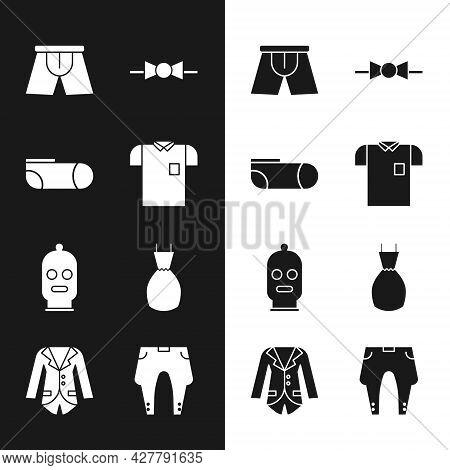 Set Polo Shirt, Sport Socks, Men Underpants, Bow Tie, Balaclava, Woman Dress, Pants And Blazer Jacke